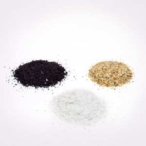 Decorative Sand for terrariums available in black, white, or natural colors.