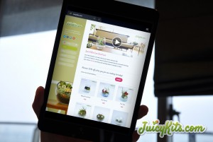 juicykits.com website on a mobile tablet device