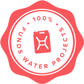 charity: water 100% model