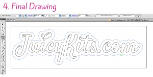 Final drawing for Juicykits.com logo