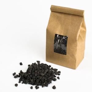 Black lava rocks or pumice for succulent bonsai or succulent terrarium