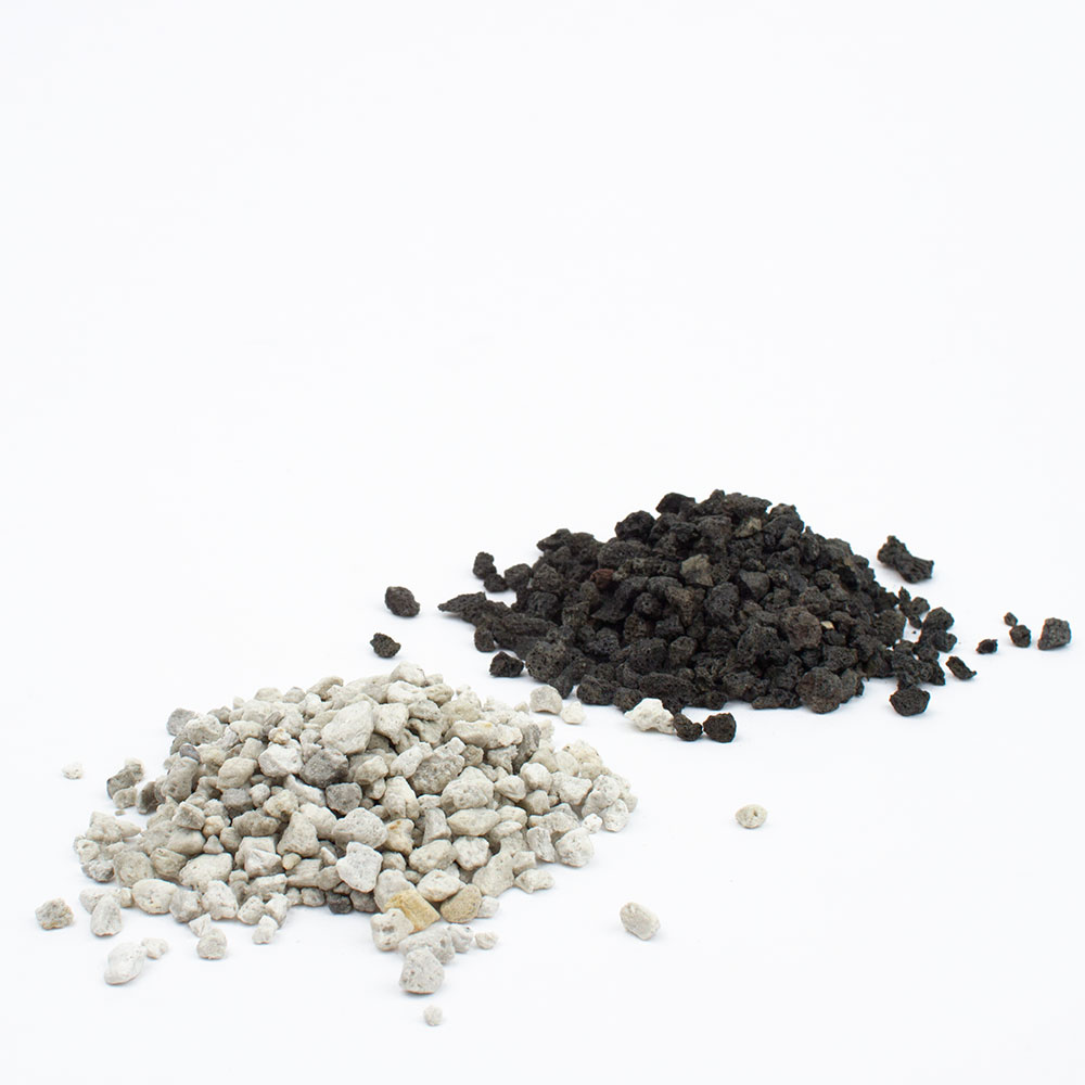Black and white lava rocks or pumice for succulent bonsai or succulent ...