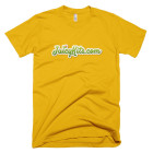 Juicykits.com Tee Shirt by American Apparel in Sunshine Gold