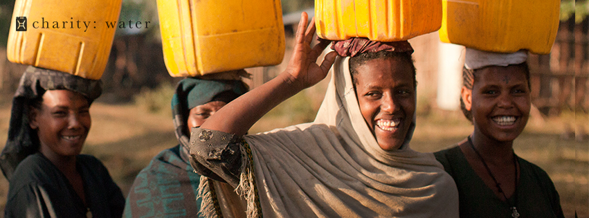 This year we doubled our donation to charity: water.