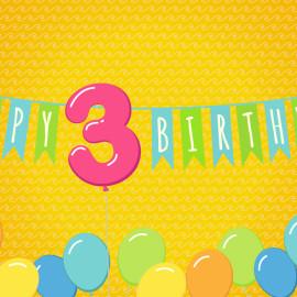 Juicykits 3rd Birthday Banner